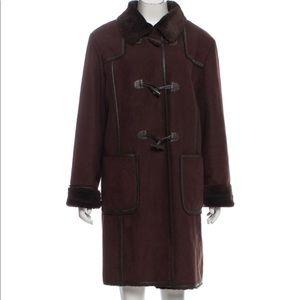 Chic Balmain Faux Shearling Coat